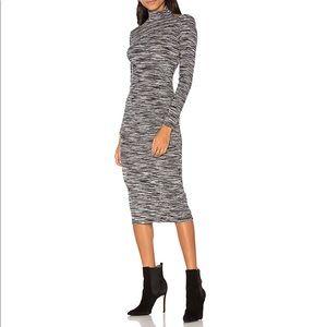 NWT Cut Out Shoulder Bodycon Midi Dress